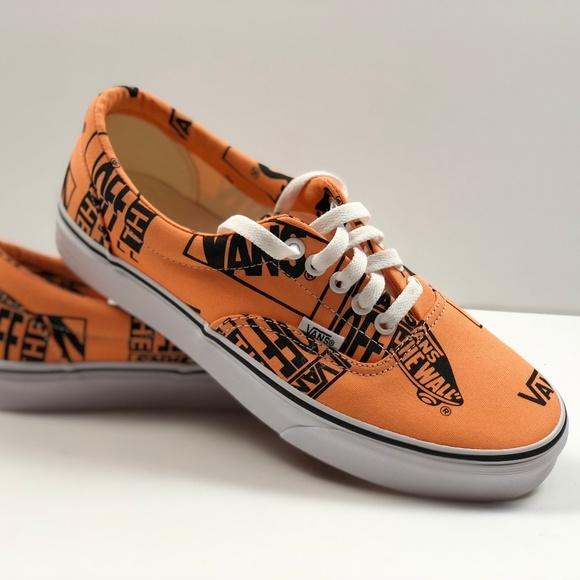 25cf826e7b12 VANS Era Logo Mix Tangerine Black Sneakers